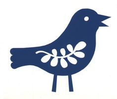 SALE buy 2 get 1 free  bird No 5 self adhesive by azulturquesa, $2.75