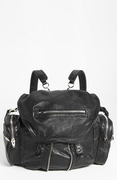 Alexander Wang 'Marti - Nickel' Leather Backpack | Nordstrom  Why do I always fall in love with expensive bags?!?! Seriously though, this bag is perfect for me!!