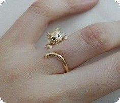 Mini cat around my finger