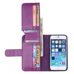 iPhone 6/6s case multifunction wallet card case Product Description 1.Material:Top pure handwork PU leather Lichee Grain Style Phone Cases; 2. 100% Brand new; 3. High-end/ Fashion / Luxury appearance design style; 4. With powerful functions:1 phone case & 1 cash slots & 6 card slots; 6. Fashion design, easy to put on and easy to take off; 7.Perfectly fits the shape & durable and washable; 8. Multi color choice: black, blue, red, pink, brown, white Accessories Phone Cases