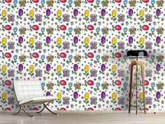 Design #Tapete Schmetterlinge Im Blumen Glück