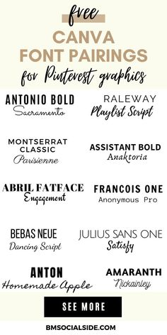 Design Social, Font Combinations, Typography Fonts, Cursive Fonts, Brand Fonts, Graphic Design Tips, Pinterest For Business, Pinterest Marketing, Font Pairings
