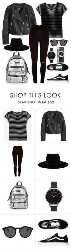 """""""today's outfit"""" by gundersenn ❤ liked on Polyvore featuring Yves Saint Laurent, H&M, River Island, Zimmermann, Topshop, Olivia Burton, Illesteva, Vans, Casetify and ootd"""