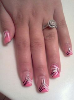 Nail art idea Easter Nail Designs, Colorful Nail Designs, Gel Nail Designs, Cute Nail Designs, Gel Acrylic Nails, Gel Nails, Cute Nails, Pretty Nails, Nailart