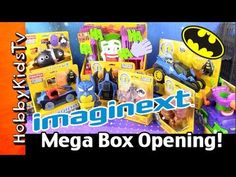 HobbyKidsTV presents The Mega Box Opening of Batman Imaginext Batman and Villans with a Surprise Play-Doh Batman Head.  Watch HobbyDad and HobbyKid open a massive collection of Imaginext Batman toys.  See your favorite heroes and villains in there coolest vehicles.  So many toys and so much fun.  Watch the Bloopers at the end!!!  #hobbykidstvHERO #hobbykidstvDAD #hobbykidstvPLAYDOH