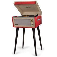 Crosley Radio 'Bermuda' Turntable (305 AUD) ❤ liked on Polyvore featuring red