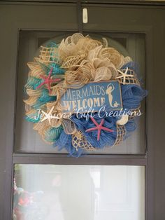 door wreath country chic winter summer shabby chevron wreaths doors burlap winte pin coastal rustic