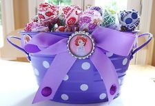 Sofia the First Inspired Birthday Party Centerpiece Gift Basket Candy Bowl Decor