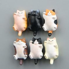 Funny Cartoon Animal Cute Cat Fridge Magnet Sticker Refrigerator Home Decoration Polymer Clay Kunst, Cute Polymer Clay, Polymer Clay Animals, Cute Clay, Polymer Clay Charms, Diy Clay, Polymer Clay Figures, Clay Cats, Sculpture Clay