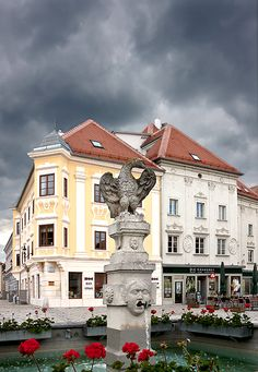 """Eggenburg fountain"" ~ Photo by Tigerlily: A beautiful small town in the district of Horn in Lower Austria..."