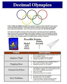 Creativity In the Common Core Classroom: Let the Games Begin! How to Do a Decimal Olympics in the Common Core Classroom