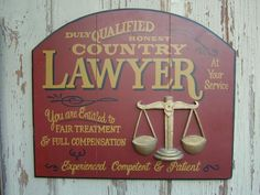 Country Lawyer sign