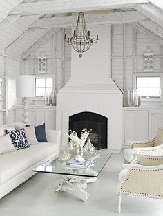 Simple Yet Stunning like the cabinets on either side of fireplace. could do fake lighted windows