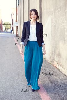 I want pants like this, but in olive green, and elastic at the bottom. Call me weird.