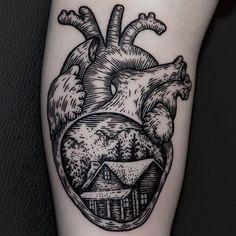 Home is where the heart is By @iljahummel #tattooartist #tattooist #tattooing…