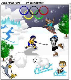 Jeux d'hiver pour tous. Deux jeux en ligne (identifier - multijoueurs) et définitions
