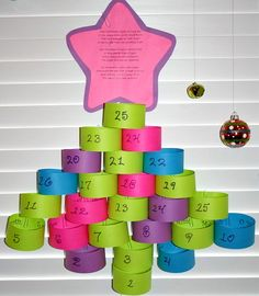 DIY Advent Calendar...Advent poem and easy paper advent calendar idea