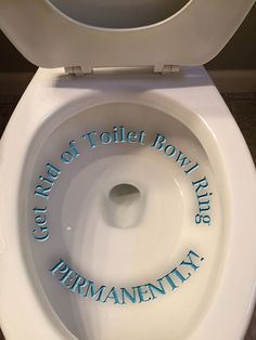 This toilet hasn't been scrubbed for 10 months and counting - the permanent solution for toilet bowl ring.