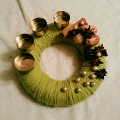 Advent wreath ready to go home Christmas by MKruzedesign on Etsy