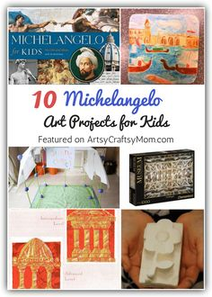 10 Magnificent Michelangelo Art Projects for Kids Browse selection of art appreciation projects for kids, Open process art, watercolor techniques, and decoration ideas also provide excellent inspiration for kids. Art Lessons For Kids, Art Lessons Elementary, Projects For Kids, Art For Kids, Class Art Projects, Michelangelo, Artist Project, Ecole Art, Art Curriculum