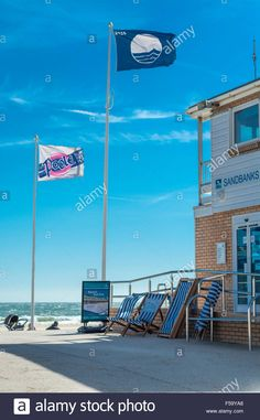 Download this stock image: View of beach at Sandbanks, Poole, Dorset. UK. Taken on 29th September 2015. - F59YA8 from Alamy's library of millions of high resolution stock photos, illustrations and vectors.