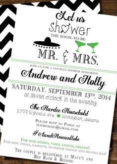 His and Hers Couple Shower Invitation Pinteres