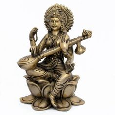 Amazon.com: Brass Metal Statue of Goddess Saraswati: Home & Kitchen