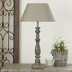 Oval Linen Lamp Shade -  Stone
