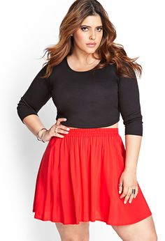 Basic skater skirt. Dress down day, running errands. Maybe pair it with a print cami or floral crop top.