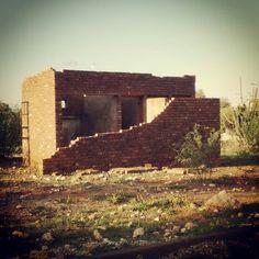 Abandoned house in Deben, Kalahari South Africa
