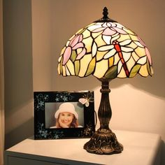 Late Summer Garden Tiffany Bedside Lamp