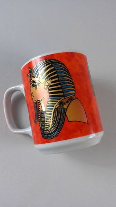 Arvon Egyptian #Coffee Mug Cup Pharaoh Goddess Red Gold Collectible Arabic Tea http://www.ebay.com/itm/Arvon-Egyptian-Coffee-Mug-Cup-Pharaoh-Goddess-Red-Gold-Collectible-Arabic-Tea-/301849600403?roken=cUgayN&soutkn=NUnRfQ #bogo #gifts #coffeetime #ebay