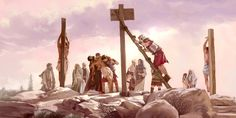 Jesus' body is taken off the torture stake while his disciples watch from a distance. Did it really happen?