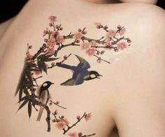 Other – Bird Plum Temporary Tattoos – a unique product by happyworld2016 via en.DaWanda.com