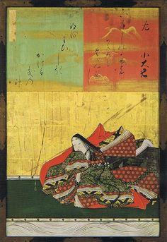 07-Kano Naonobu, Portraitsdes Trente-Six Poètes Immortels (Sanjû-Rokkasen-Gaku), Portrait de Ko Okimi, H63,6cm, L41,6cm, 1648