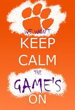Clemson Tigers football / basketball - Graffiti Keep Calm - 13x19 Poster