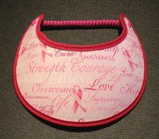 Ladies Sun Visor Breast Cancer Pink Ribbon by SunVisorsandmore on etsy