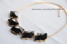 Black pendants -Bubble Statement Necklace
