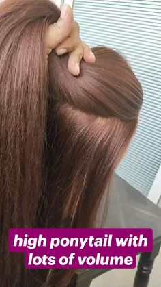 Work Hairstyles, Easy Hairstyles For Long Hair, Pretty Hairstyles, Hairstyle Hacks, High Ponytail Hairstyles, Hair Updo, Hairdos, Hair Up Styles, Hair Beauty
