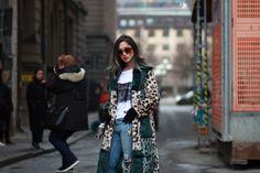Stockholm Fashion Week street style // Zara // Asos // Patchwork faux fur coat //