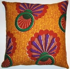AW23 Untreated cotton African wax printed pillow cover