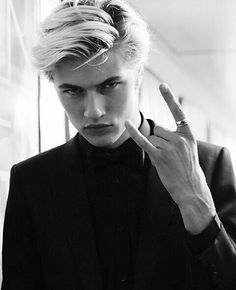 black and white, guys, and lucky blue smith image