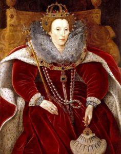 Elizabeth I in Parliamentary robes, portrait (now in Stowmarket) c. 1585-1590