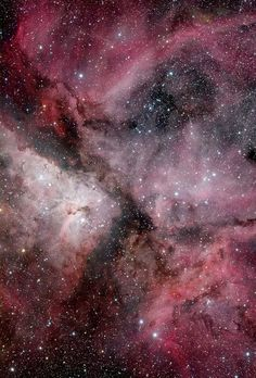 The #KeelNebula, also called #CarinaNebula or #NGC3372, is a large emission nebula that surrounds several open star clusters. Among these stars are #EtaCarinae & #HD93129A, two of the most massive and luminous stars in the #MilkyWay. The #nebula is at an estimated distance of 6,500 to 10,000 light years from Earth. It is located in the constellation of the Quilla (Carina). This nebula contains several O-type stars.