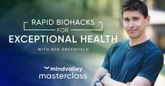 Gym Hacks - Rapid Biohacks for Exceptional Health with Ben Greenfield - Mindvalley Masterclass Trailer - Fitness & Diets : Move it Or Lose It source for fitness Motivation & News You Fitness, Fitness Diet, Health Fitness, Fitness Motivation, Short Workouts, Fun Shots, Transformation Body, Master Class, Get In Shape