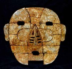 HAN DYNASTY Anonymous (206 BCE - 220 CE)  Burial Mask. Exquisite Corpse, The Han Dynasty, Africa Art, Masks Art, China Art, Ancient Artifacts, Art Object, Tribal Art, Ancient History