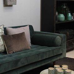 3-zitsbank Capetown velvet - Banken - Loods 5 Velvet Vans, Sofa, Couch, Color Inspiration, Love Seat, Living Room, Interior, Furniture, Instagram