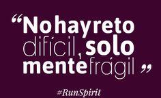 """""""No hay reto difícil, solo mente frágil"""" #frases"""
