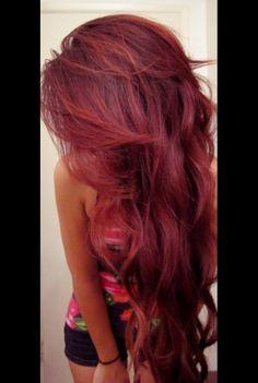 Red wine colored hair