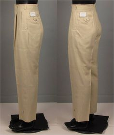Vintage Mens 1950s Trousers  Deadstock 50s Drop by jauntyrooster